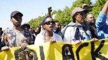 George Floyd protesters condemn 'opportunistic' looting and violence