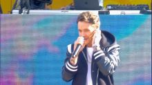 Zedd and Liam Payne rock out to their song 'Get Low' in Central Park