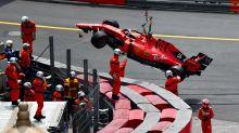 Monaco Grand Prix: Sebatian Vettel crashes out in final practice as Ferrari's Charles Leclerc sets the pace