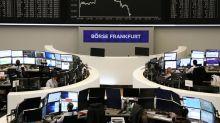 European shares hit by U.S. tariff threat, growth jitters