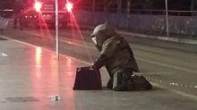 Polícia prende mulher que transportava dinamite de 5 kg em mochila do filho de 3 anos