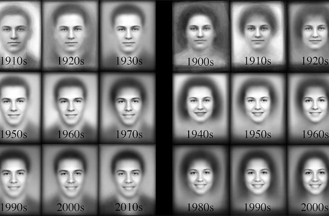 Data-mined photos document 100 years of (forced) smiling