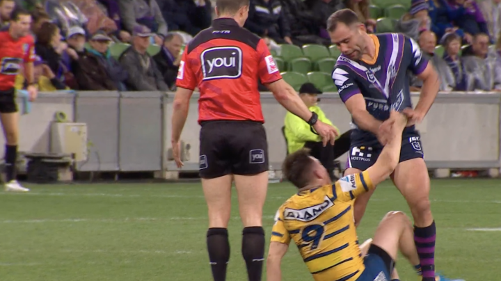 'What a disgrace': Cameron Smith sin-binned for slap