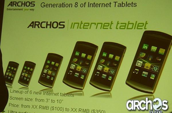 Archos promises six Internet Tablets this summer for hands of all sizes