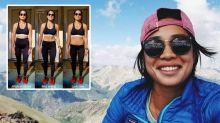 """Trainerin postet drei Fotos mit unterschiedlicher Figur – """"je nachdem, wie hoch ich meine Leggins ziehe"""""""