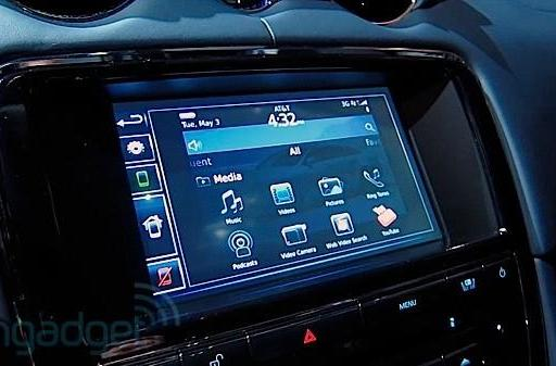 Jaguar XJ with BlackBerry integration hands-on (video)
