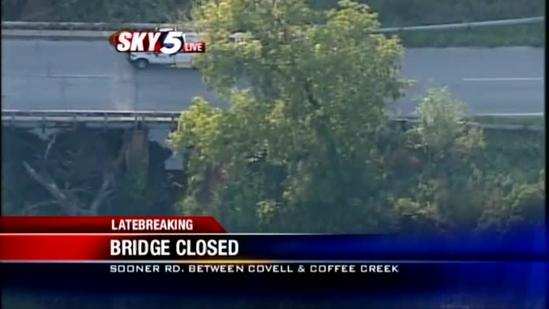 Edmond city leaders closing Sooner Road bridge