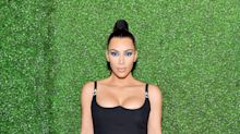 Kim Kardashian nearly shows her lady bits in racy pic for beauty line