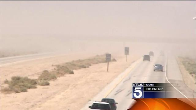 Wild Winds Create Problems for Antelope Valley Residents