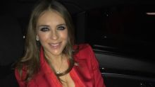 Elizabeth Hurley, 53, looks 'red hot' in plunging tuxedo jacket