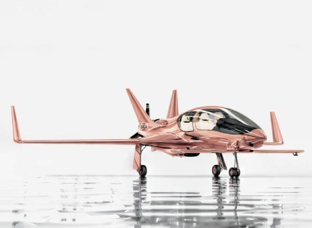 Valkyrie Co50 airplane in rose gold