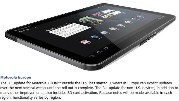Motorola Xoom gets Android 3.1 update that activates microSD card support outside the US
