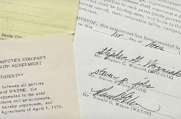 Apple's founding documents go up for auction, estimated to bring in $150k