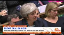 Theresa May's unpopular Brexit plan put on hold