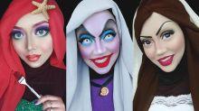 Maquiadora faz sucesso ao se transformar em diversos personagens famosos usando hijab