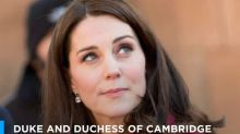Pregnant Duchess of Cambridge recycles hot pink Mulberry coat for Coventry trip with Prince William