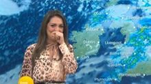 Good Morning Britain weather presenter in tears of laughter during live broadcast
