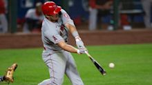 Trout hits two home runs in Angels' loss, Red Sox end losing streak
