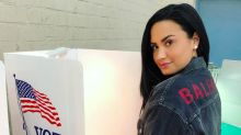 Demi Lovato shares 1st Instagram since rehab — from the polls: 'I am so grateful to be home in time to vote!'