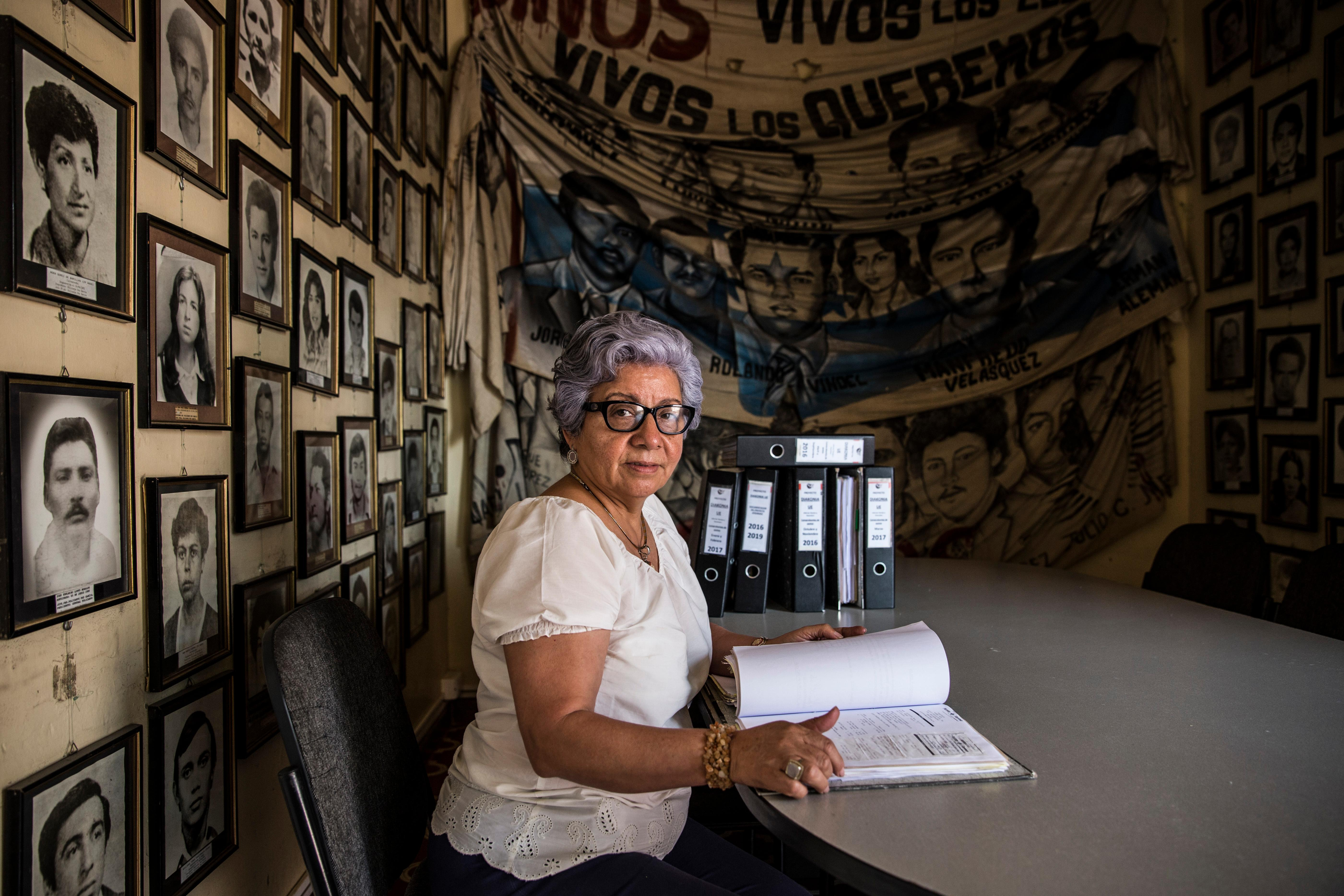 """<p>Bertha Oliva of the organization Committee of Relatives of the Disappeared and Detained in Honduras (COFADEH). COFADEH is a Honduran human rights organization, which seeks justice for current human rights abuses and for """"disappearances"""" by state security forces in the 1980s and trains local human rights activists. Honduras is the most dangerous country in Central America to be a human right defender. (Photo: Francesca Volpi) </p>"""