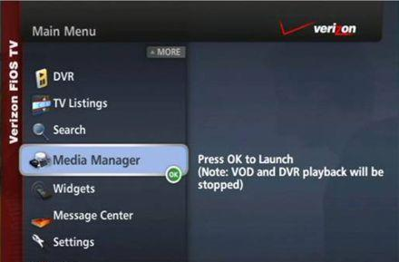 Media Manager, Remote DVR scheduling features reach more FiOS subscribers