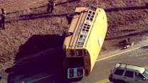 1 person dead, no children seriously injured in Wadsworth school bus crash