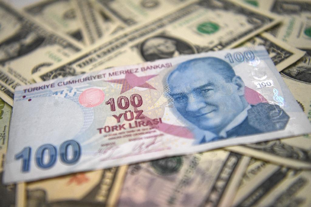 The Turkish lira rallied against the dollar after the country's central bank hiked interest rates (AFP Photo/OZAN KOSE)