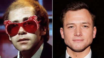Actor teases first look at his Elton John movie