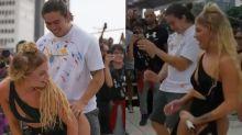 Luísa Sonza dança com Whindersson Nunes em bloco: 'Tímido'