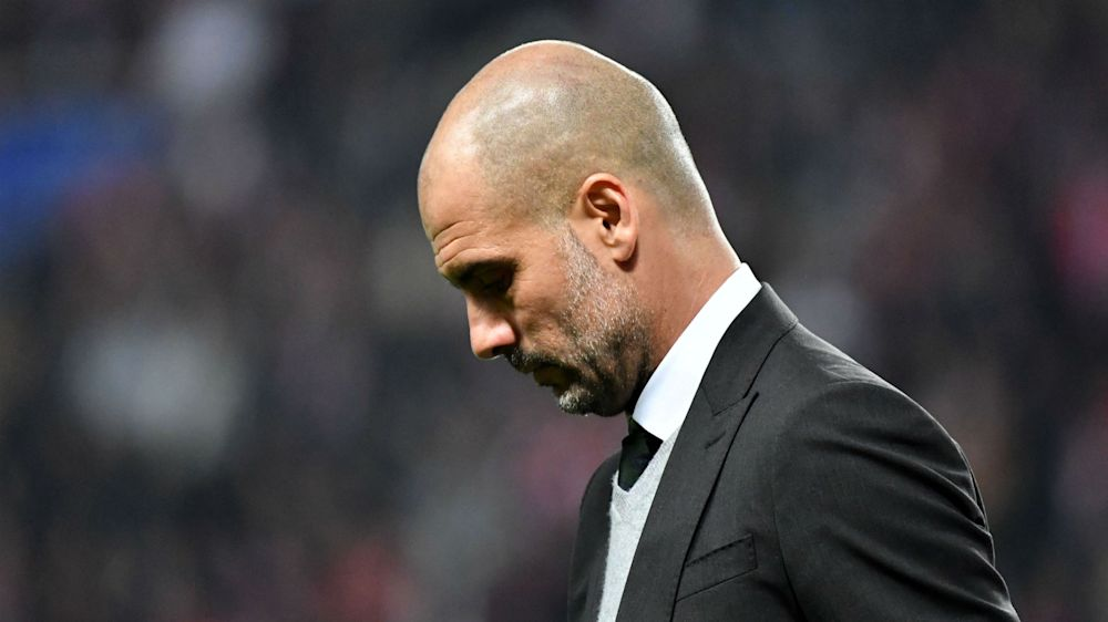Pep Guardiola suffers 'double' defeat for first time in his career