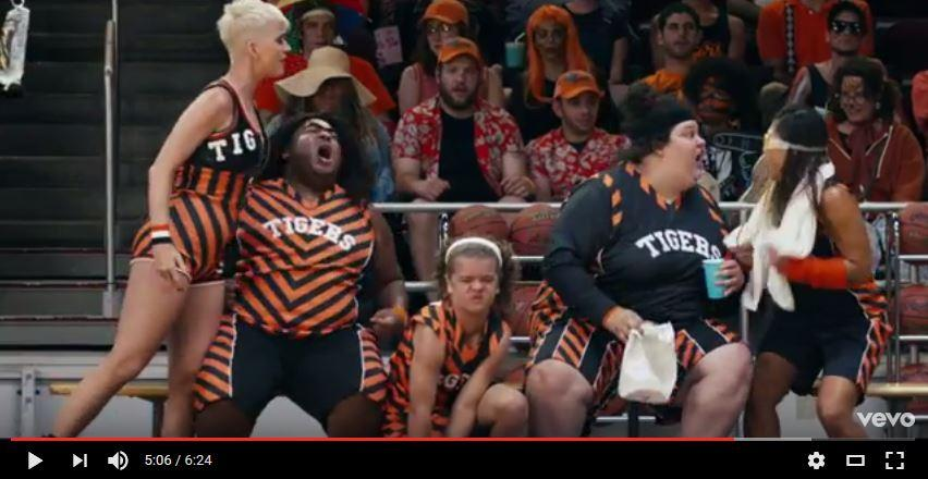 Katy Perry hits the court for 'Swish Swish' video