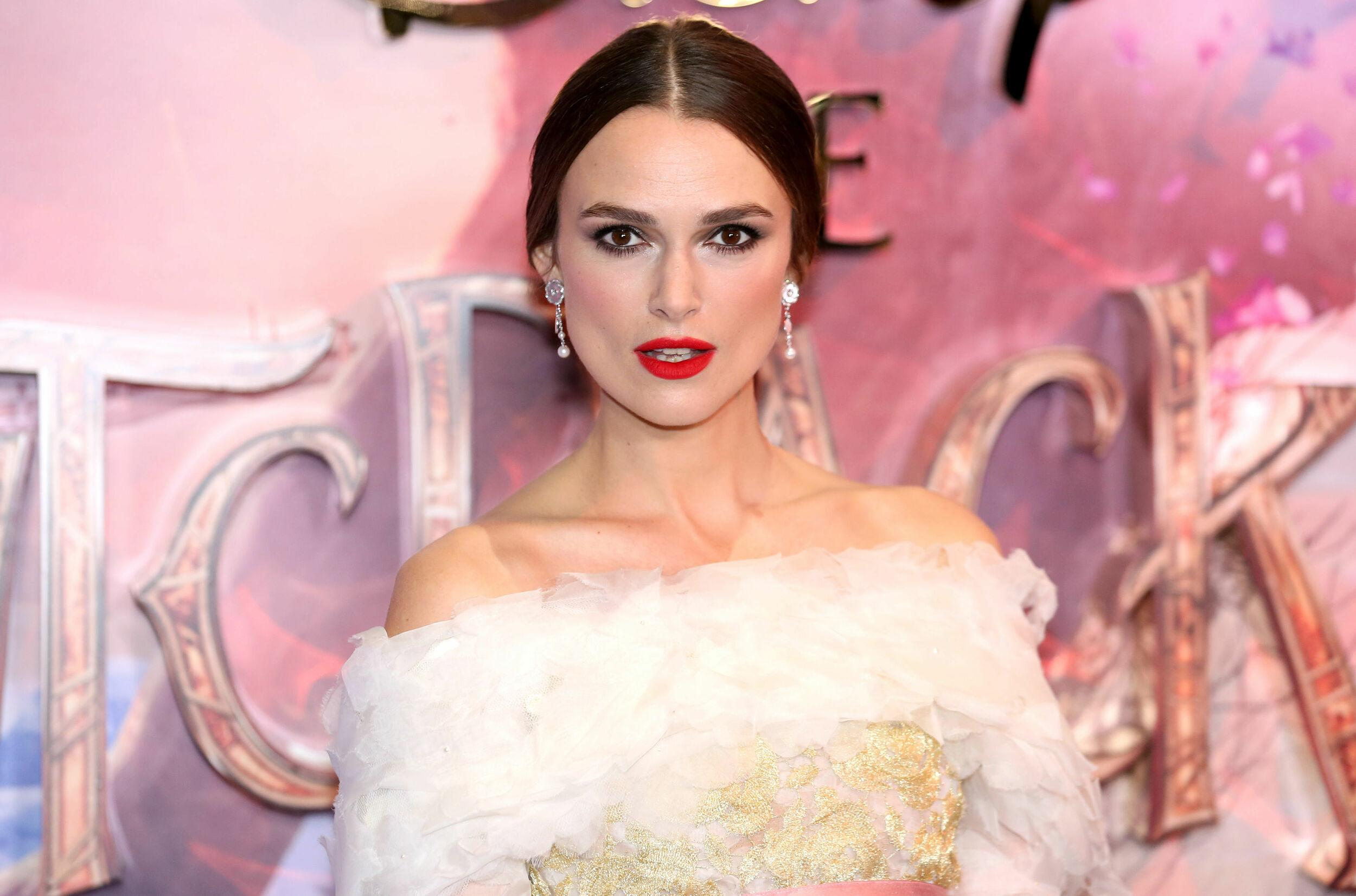 Keira Knightley attending the European Premiere of The Nutcracker and the Four Realms held at the Vue, Westfield London. (Photo by David Parry/PA Images via Getty Images)