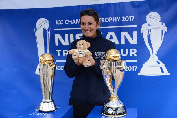 TAUNTON, UNITED KINGDOM - MAY 02: Former England Captain and now ICC Women's World Cup Ambassador Charlotte Edwards poses ahead of the Royal London One-Day Cup match between Somerset and Kent at The Cooper Associates County Ground on May 2, 2017 in Taunton, England. (Photo by Harry Trump/Getty Images)