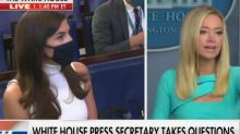 White House press secretary mocks CNN reporter's basic question about Trump's healthcare plan and tells her to 'come work here at the White House' if she wants information