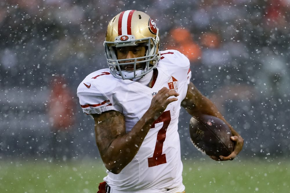 Colin Kaepernick believes he is being blackballed from the NFL. (Getty Images)