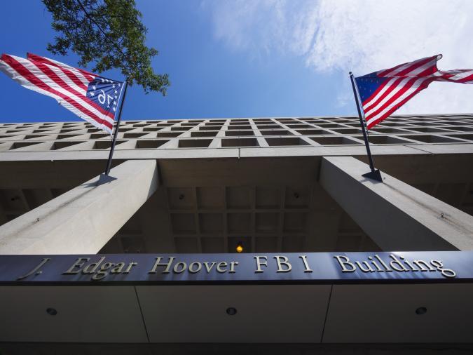 The main headquarters of the FBI, the J. Edgar Hoover FBI Building.
