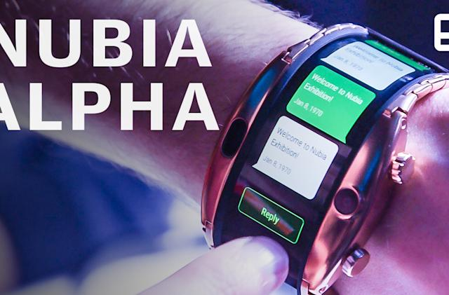 Nubia's Alpha 'smartphone' is the wildest wearable yet