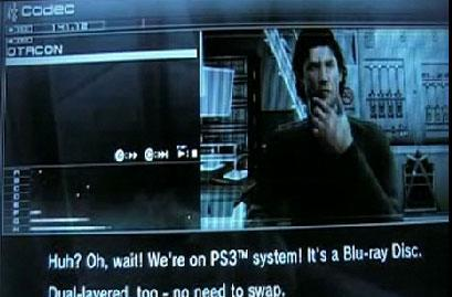 Metal Gear Solid 4 plays favorites with dig at Xbox 360