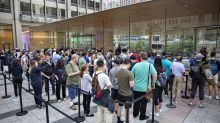 iPhone lines were shorter this year, though that might not mean much for Apple