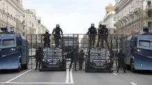 Scores detained as security forces crack down on mass protest in Belarus