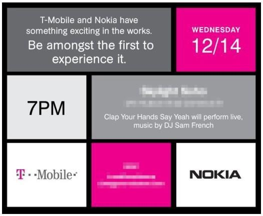 T-Mobile and Nokia announce December 14th event, Windows Phone cometh?