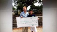 High school student wins scholarship, gives it to cancer survivor