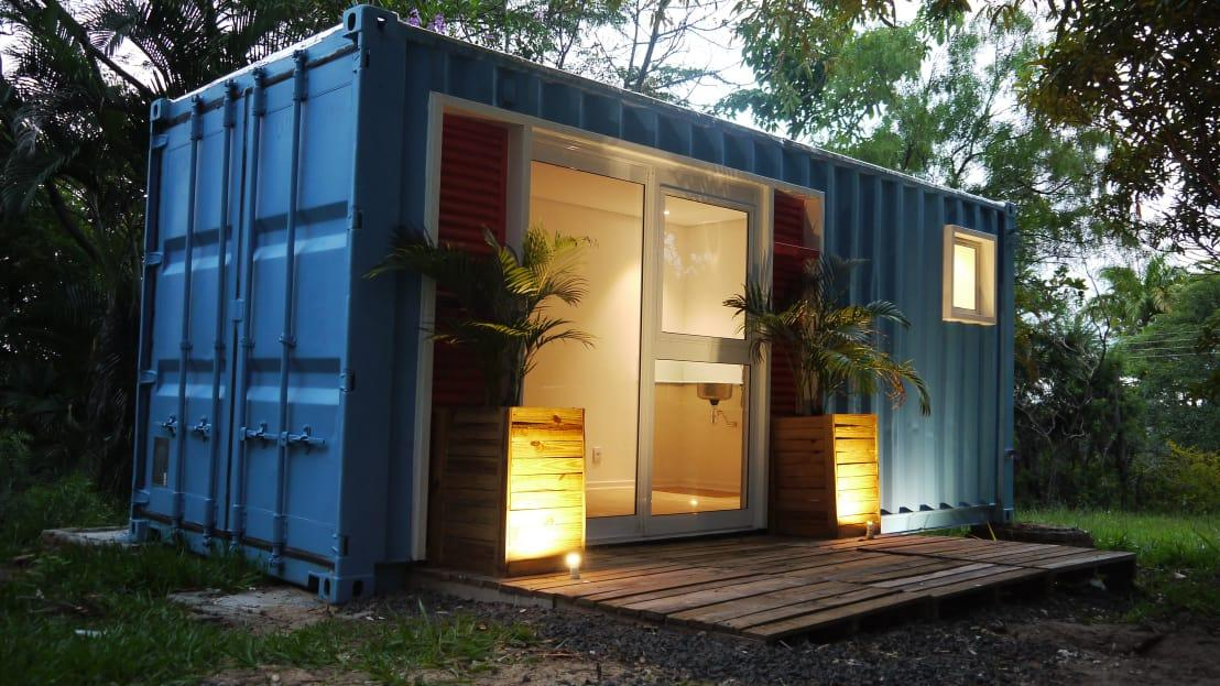 Wohncontainer Design günstig gemütlich ein wohncontainer auf 15m