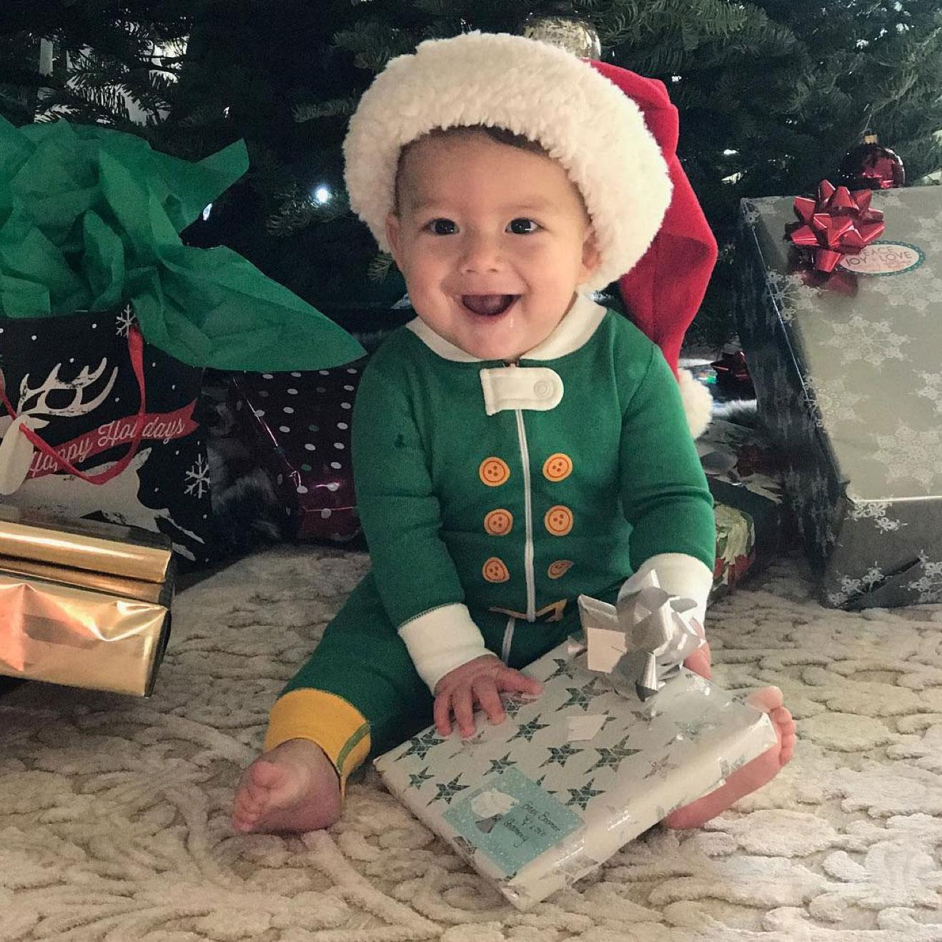 Michael Phelps' Son Boomer Celebrates His First Christmas ...