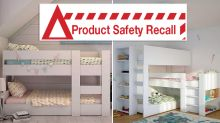 Urgent recall on bunk beds over fears of collapsing