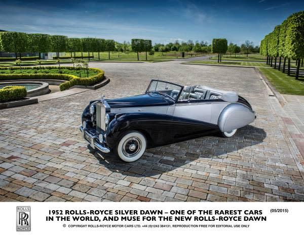 ROLLS-ROYCE MOTOR CARS公佈全新敞篷車型命名 ROLLS-ROYCE DAWN