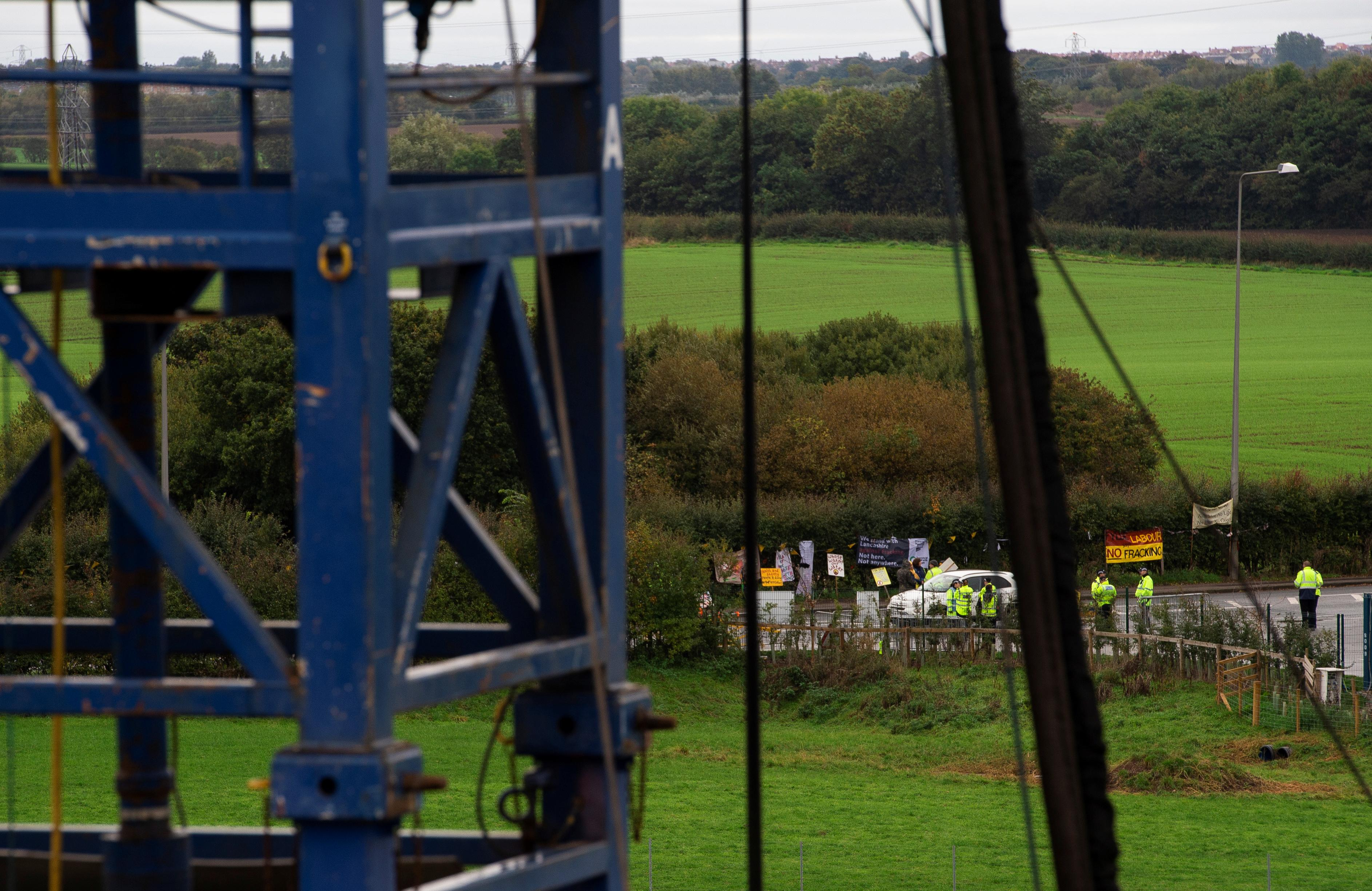 Campaigners hail 'death of fracking' in UK as work stops at Lancashire site