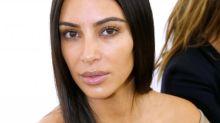 Kim Kardashian Goes Makeup-Free in the Front Row