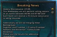 European extended and weekly maintenance: 27th May 2009