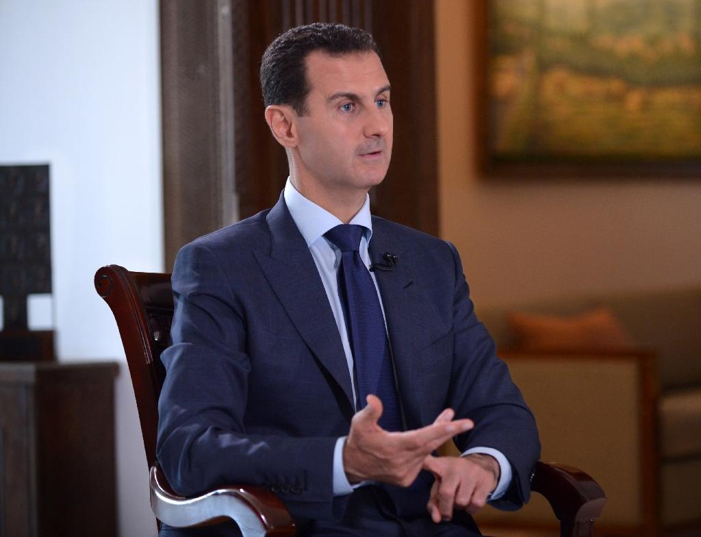 Syrian President Bashar al-Assad denies that his forces targeted the slain Sunday Times journalist Marie Colvin (AFP Photo/)
